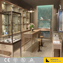 Wooden simple display store furniture, counters for jewelry shop