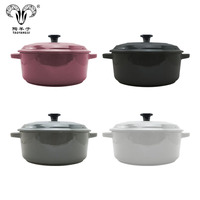Wholesale hot sale ceramic healthy cooking pot soup pot with handle for kitchen