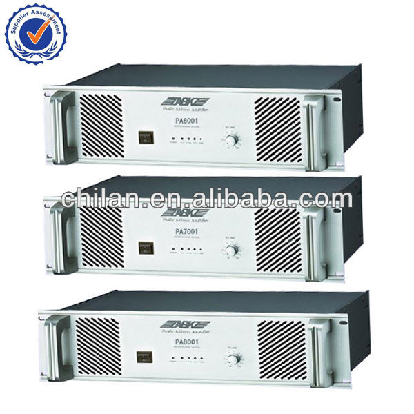 Public Address System High end Audio amplifiers PA 6001,PA7001,PA8001