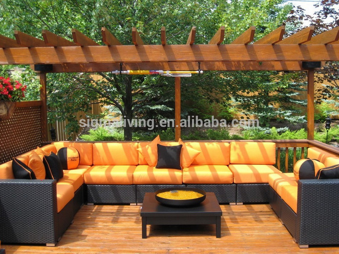 New arrival modern garden furniture clearance outdoor sofa sets rattan sectional couches