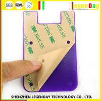 Best Brand silicone credit card sticker holder phone