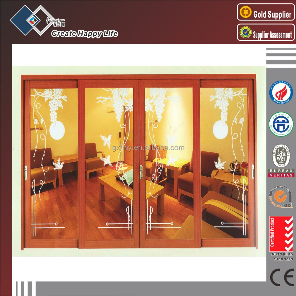 New product Aluminium Wood grain door skin in side-hung door aluminium door price