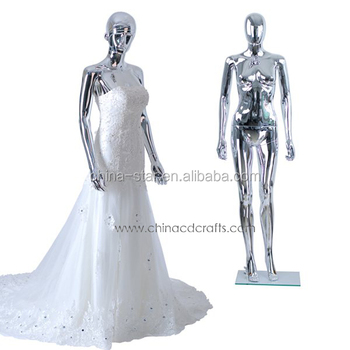 Beautiful stand female wedding dress mannequin display for Full body wedding dress