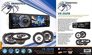"""Soundstream VR-345B 1-DIN In-Dash 3.4"""" LCD Screen Detachable Faceplate DVD CD Built-In Bluetooth V3.0, USB, AUX, Remote Control & a Pair of 6.5"""" Speakers & a Pair of 6x9"""" Speakers"""