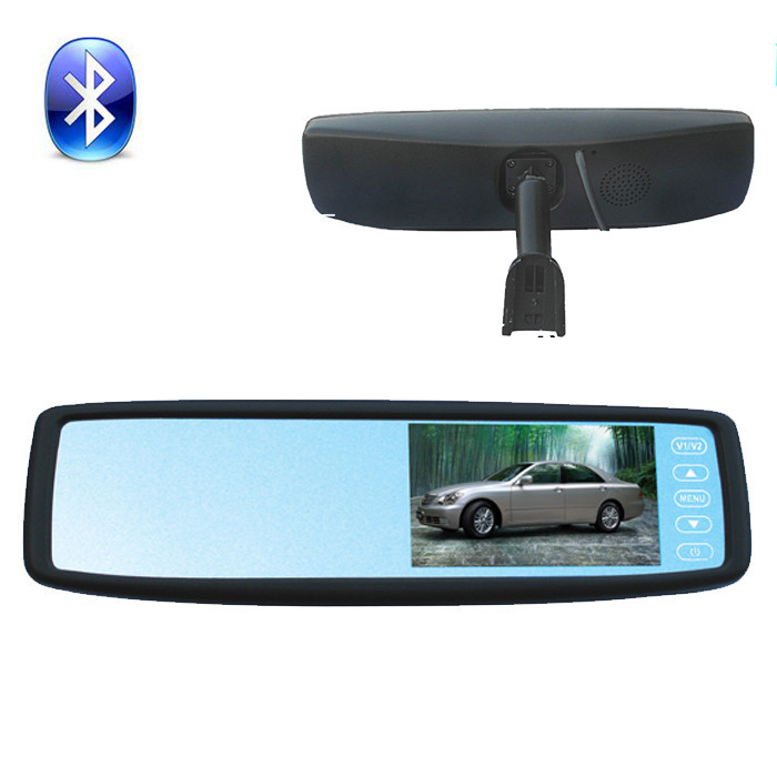 4.3 Inch Bluetooth Original Rear View Mirror Monitor with TFT-LCD Display Bracket Monitor