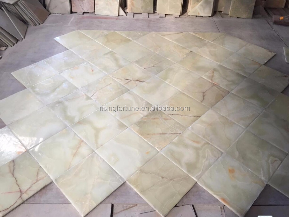 Green onyx composite tiles in stock