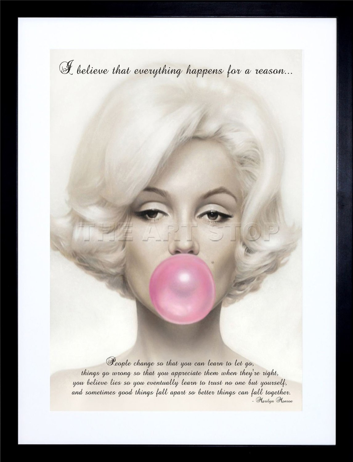 Buy I Believe Everything Happens For A Reason Marilyn Monroe Quote