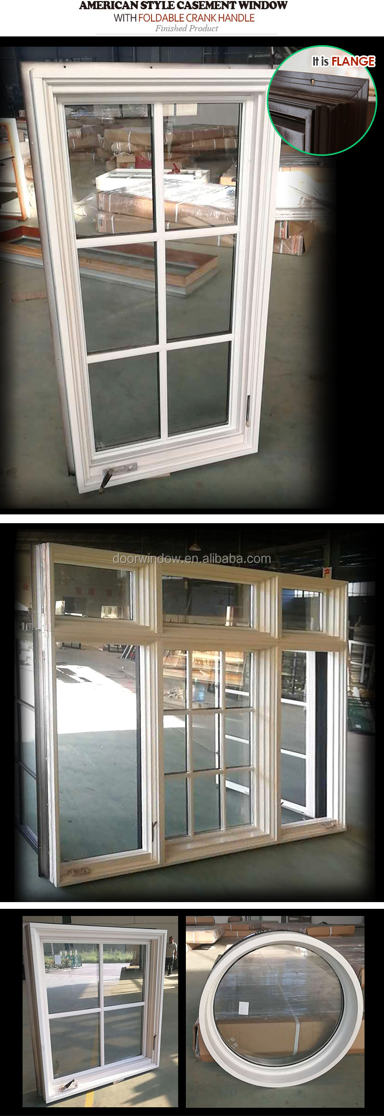 Virginia cheap aluminium crank windows 36 x36 casement window for sale