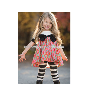 girls boutique clothing sets flower dress with strip Briefs little girls boutique remake clothing sets baby