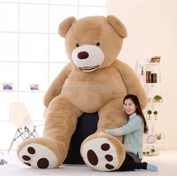 9a92fada8e3 60-300cm Huge Giant super Semi-finished zipper Teddy Bear stuffed bear toy