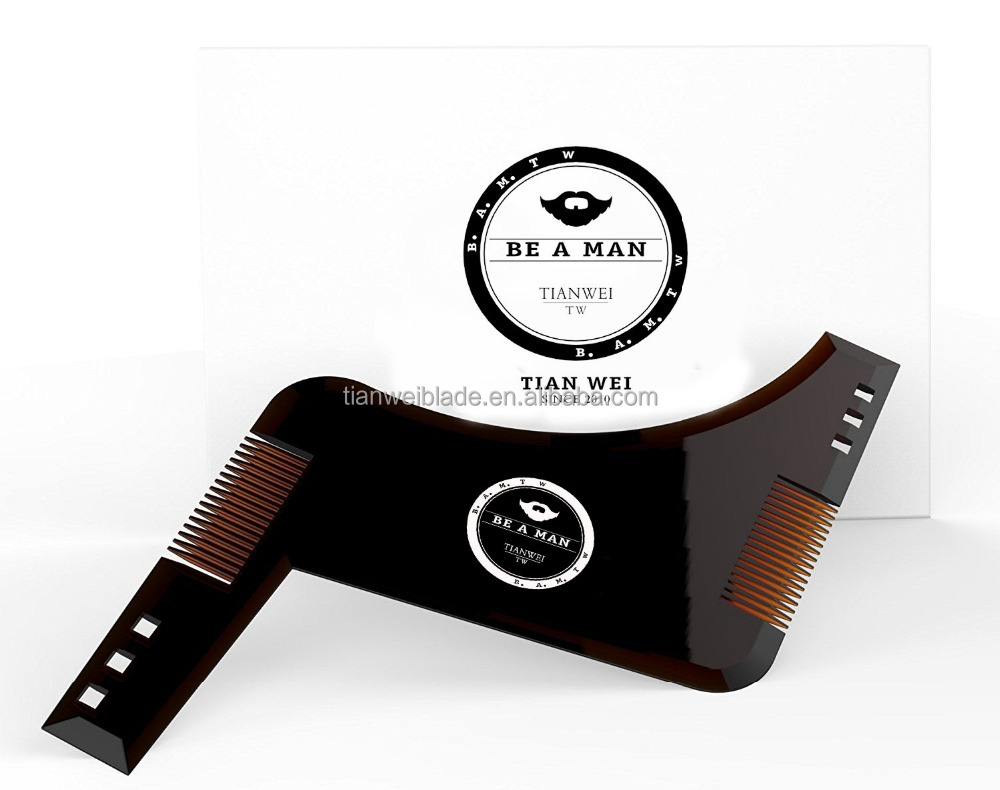 The new design BEARD SHAPING Template for Hair, Beard & Mustache - Haircut Lining / Shaping / Edging / Trim