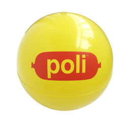 Juze Promotional Gifts PVC Yellow Custom Plastic Inflatable Beach Ball