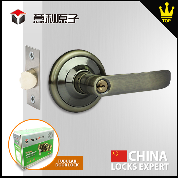 Anti-theft Easy to install tubular lever door lockset
