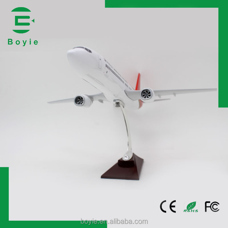 1:80 42CM 737 boeing passenger resin large scale model aircraft airplane models shenzhen for sale