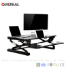 Wide Platform Height Adjustable laptop desk converter and Laptop Standing Desk Riser with Removable Keyboard Tray Special offer