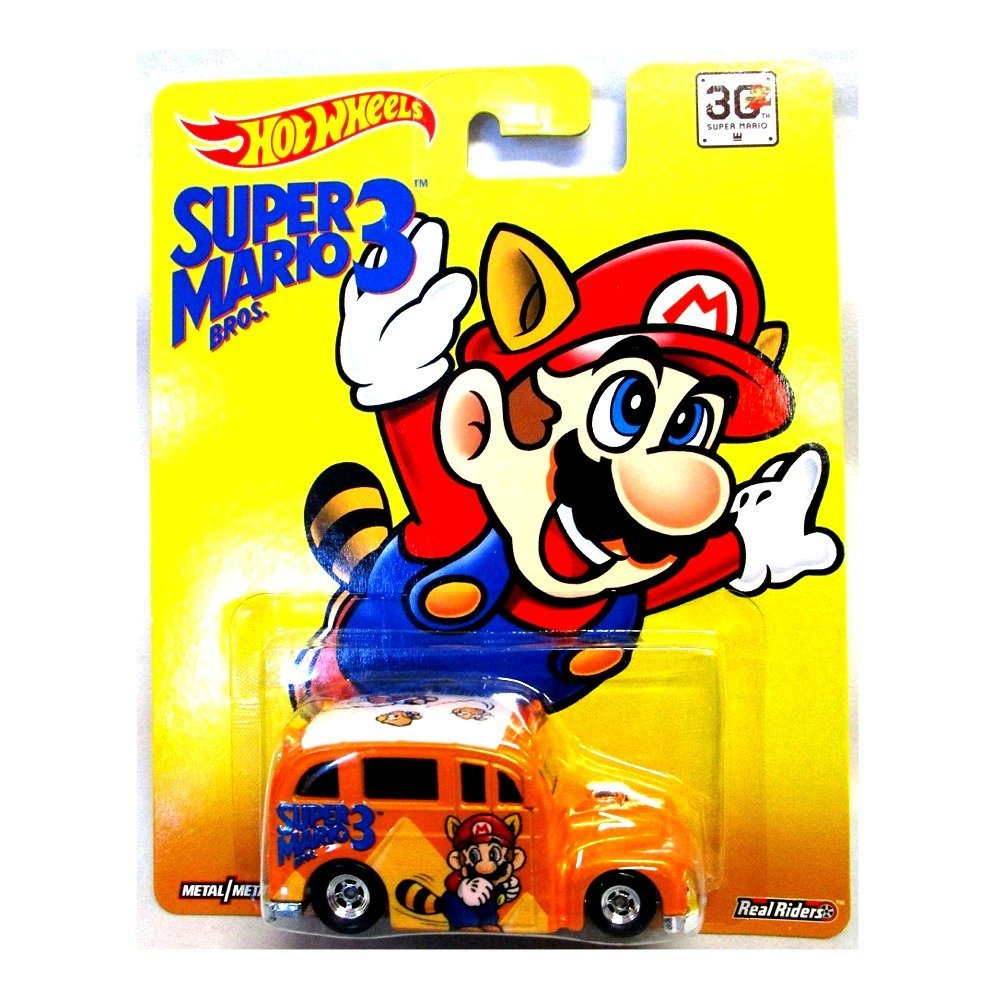 Hot Wheels Super Mario Brothers 3 SCHOOL BUSTED real riders rare 30TH SUPER MARIO
