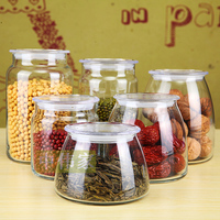 High quality factory kitchen glass season pot food jar storage canister
