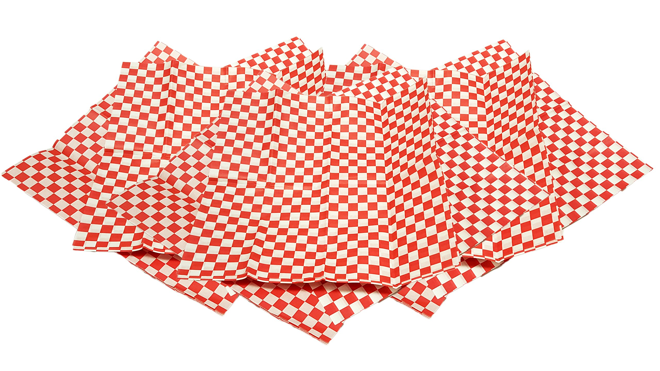"""Set of 36 Red Deli Basket Liners! Professional Quality 12""""x12"""" Liners!"""