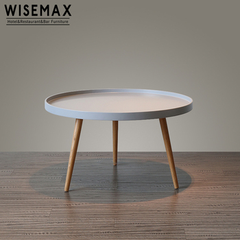 Super Modern Round Side Table White Mdf Top End Table Coffee Table With Wooden Leg For Living Room View White Top Coffee Table Wisemax Product Details Bralicious Painted Fabric Chair Ideas Braliciousco