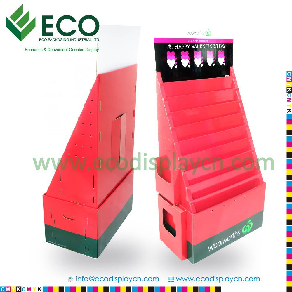 Flat Packed Cardboard Free Standing Display Units,Cardboard ...