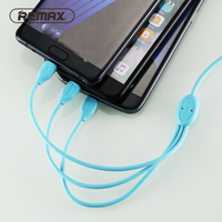 REMAX Lesu 3in1 charging Cable Type C Micro USB C Charger Cable Fast Charging 8pin color cable