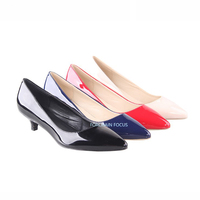 Suede Comfortable Ladies Dress Kitten Heel Classics Office Walking Kitten Heel Shoes