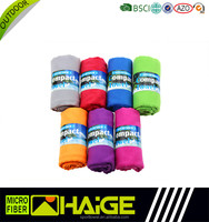 high quality Solid color embossing microfibra pet promotional towel with elastic band manufacturer With Good Service