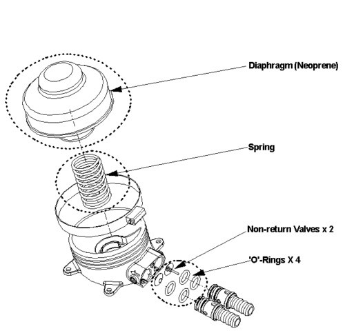 Plastic Hand Foot Operated Pump For Waterwater Pump Low Pressure