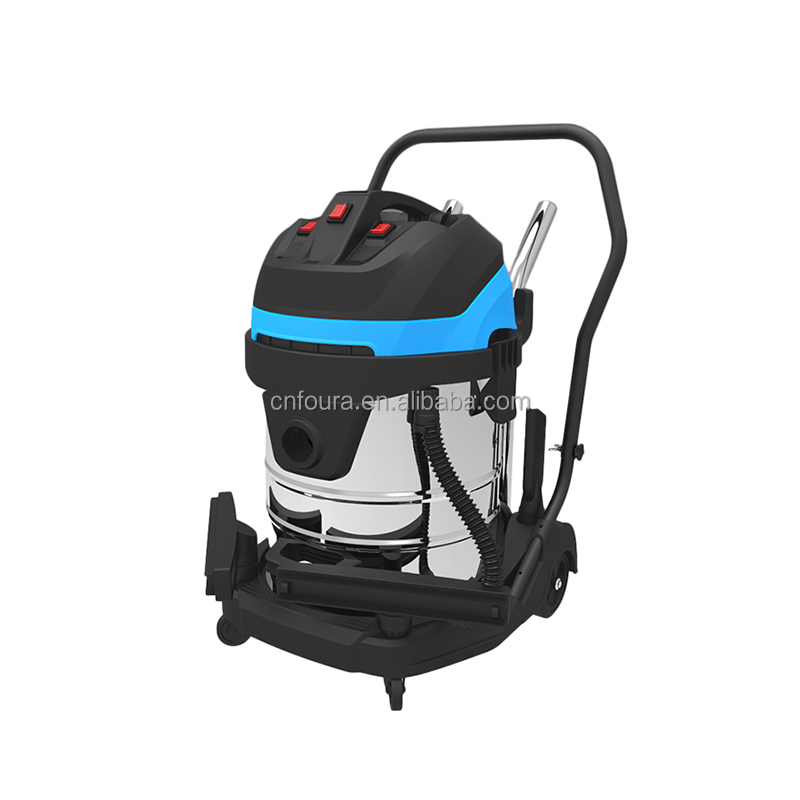 Foura 3000W industrial wet dry cyclonic vacuum cleaner 60L