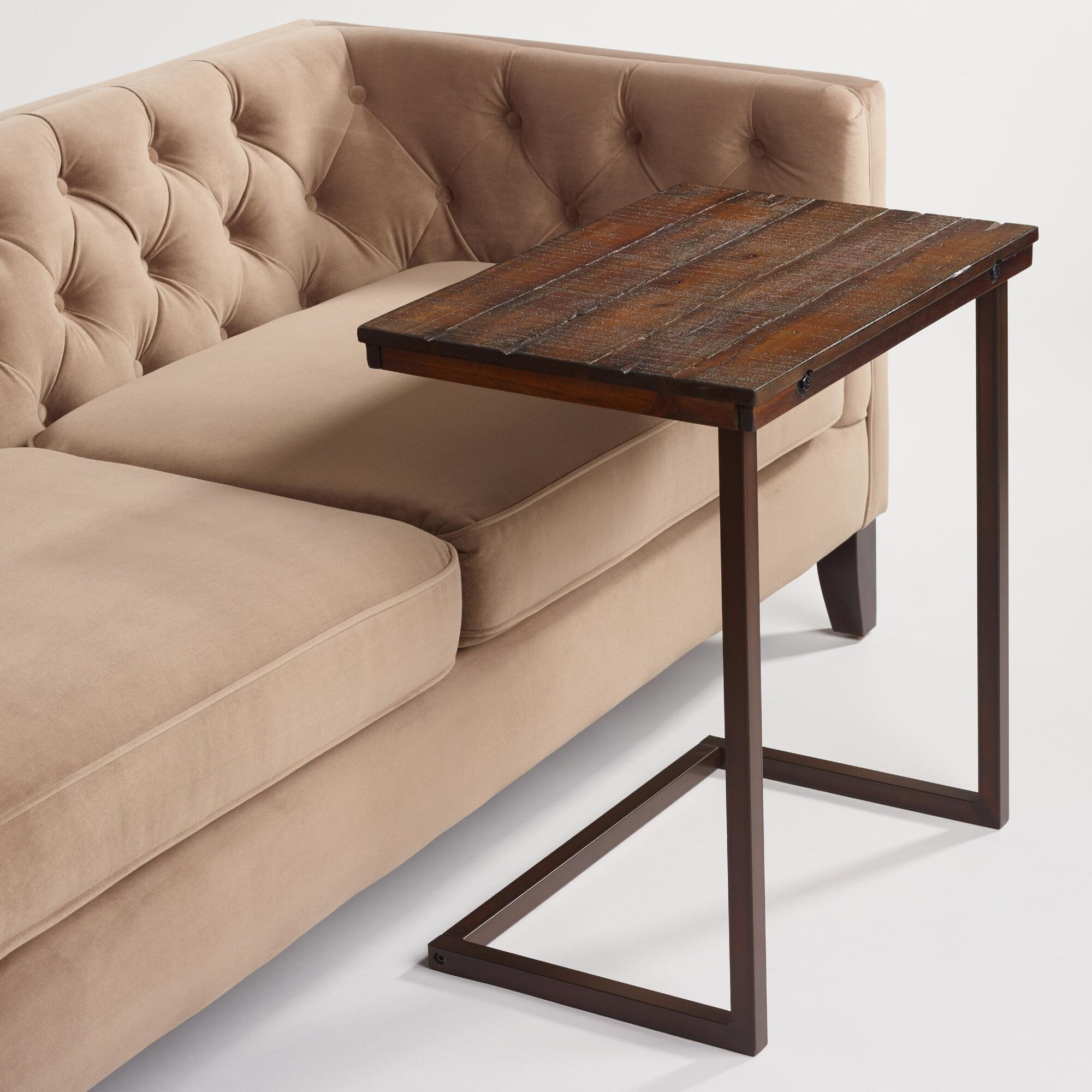 Wood Laptop Table For Couch Recliner And Sofa Slide Under Type That Can