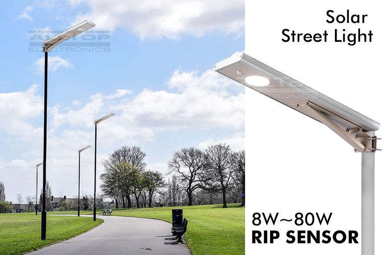 Motion sensor geïntegreerde outdoor waterdichte ip65 alles in een 20 w 25 w 30 w 40 w 50 w 60 w led zonne-straat licht prijs