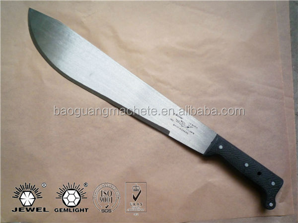 "16"" blade long plastic handle, M205D, 1.8mm thickness with wide sharp edge"