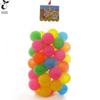 Corn Starch Based Plant Fiber Ingredient Ball Pit Balls - 5 Bright Colors; Crush-Proof Air-Filled Phthalate BPA Free Non Plastic