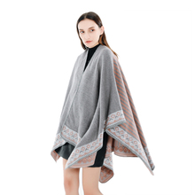 Groothandel Nieuwe Collectie Elegante Vrouwen <span class=keywords><strong>Winter</strong></span> Open Voorzijde Dikke Poncho <span class=keywords><strong>Cape</strong></span> Knit Warme sjaal sjaals