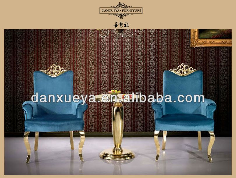 Koninklijke Paleis Kroon Hout Gesneden Gouden Stof Hotel Stoel ...