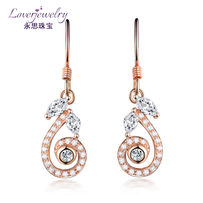 Custom Design 1 Gram 14k 18k Pure Gold 0.796 Ct Diamond Pave Earrings With Price