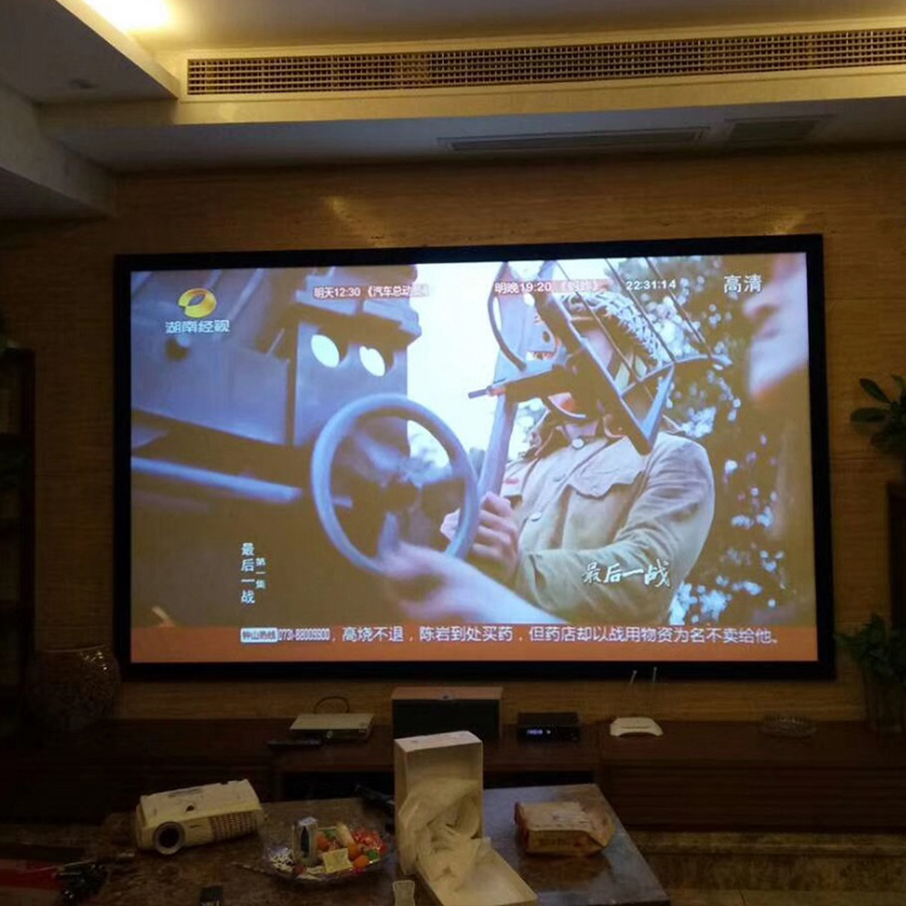 120 Inch 16:9 PET Film Material and Holographic Fixed Frame Projection Screen Film Style 3D Holographic Projector