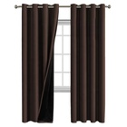 100% Blackout Thermal Insulated Lined Silky Fancy Window Curtain