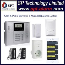 433MHz or 868Mhz GSM Alarm System 32 wireless zones SP-21A04