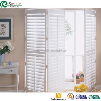 Wood Interior Bi Fold Window Shutters