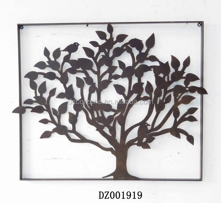Antique decorative tree metal wall art decor buy wall for Al ahram aluminium decoration