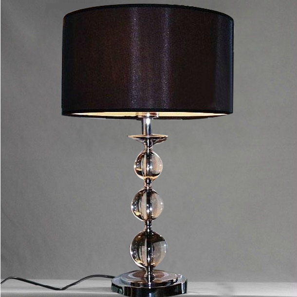 black decorative cable plug bar table lamp