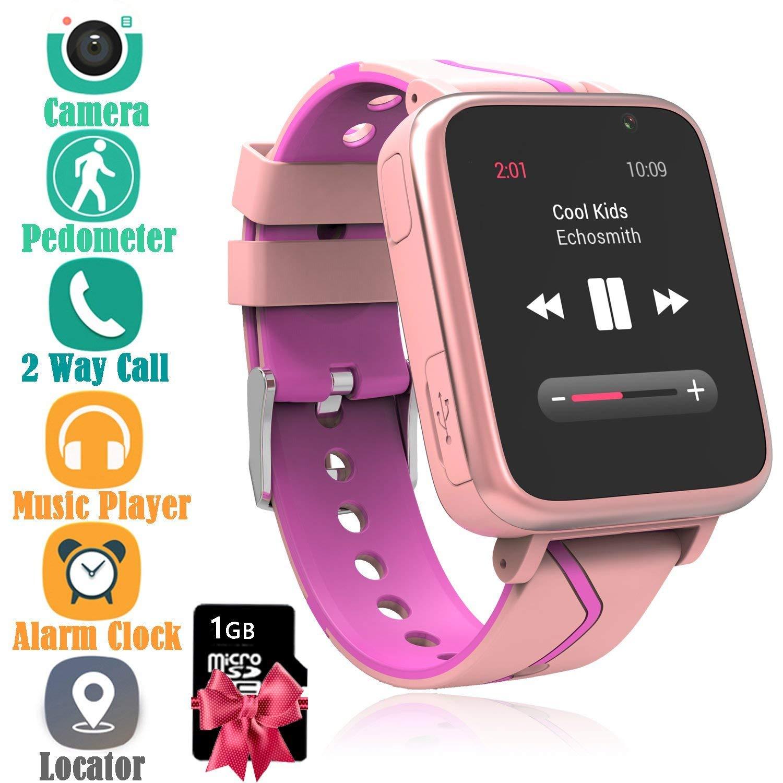 Jesam Kids Smart Watch with Music Player - Childrens Mp3 Music Player Watch [with 1GB Micro SD Card] with SIM Slot Pedometer Camera Flashlight GPS Tracker Sports Watch