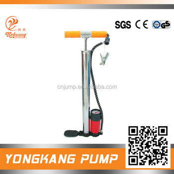 High Quality steel body Bicycle Air Floor Pump with guage