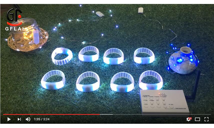 China Supplier Direct Factory Cheap Price 2017 Hot Selling DMX Remote Controlled Wireless RGB LED Controller Bracelet