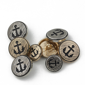 // classical ship anchor embossed metal buttons // for coats metal sewing button for clothing // BK-BUT609