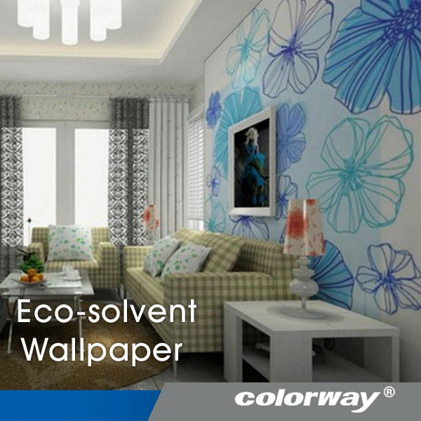 Factory supply! Eco-solvent removable kids wallpaper roll with instant dry for inkjet printing