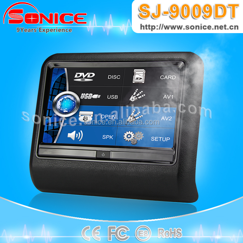 9 inch Clip On Touch Screen Car Monitor