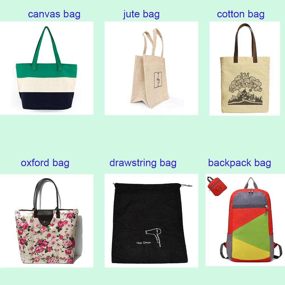 Factory Customized waterproof Polyester Promotional custom Logo Shopping Bags