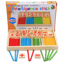 Math Wooden Early Teach Toys Educational math Count wood Sticks toys
